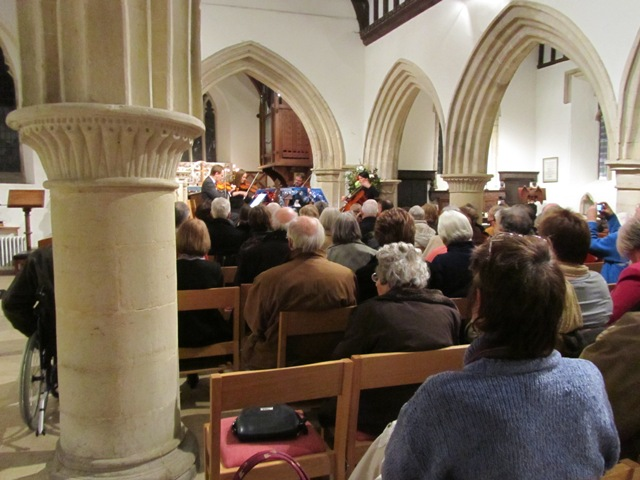 Audience at St Nicholas Church, Cuddington