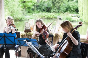 Buckinghamshire wedding string quartet at The Dairy at Waddesdon Manor