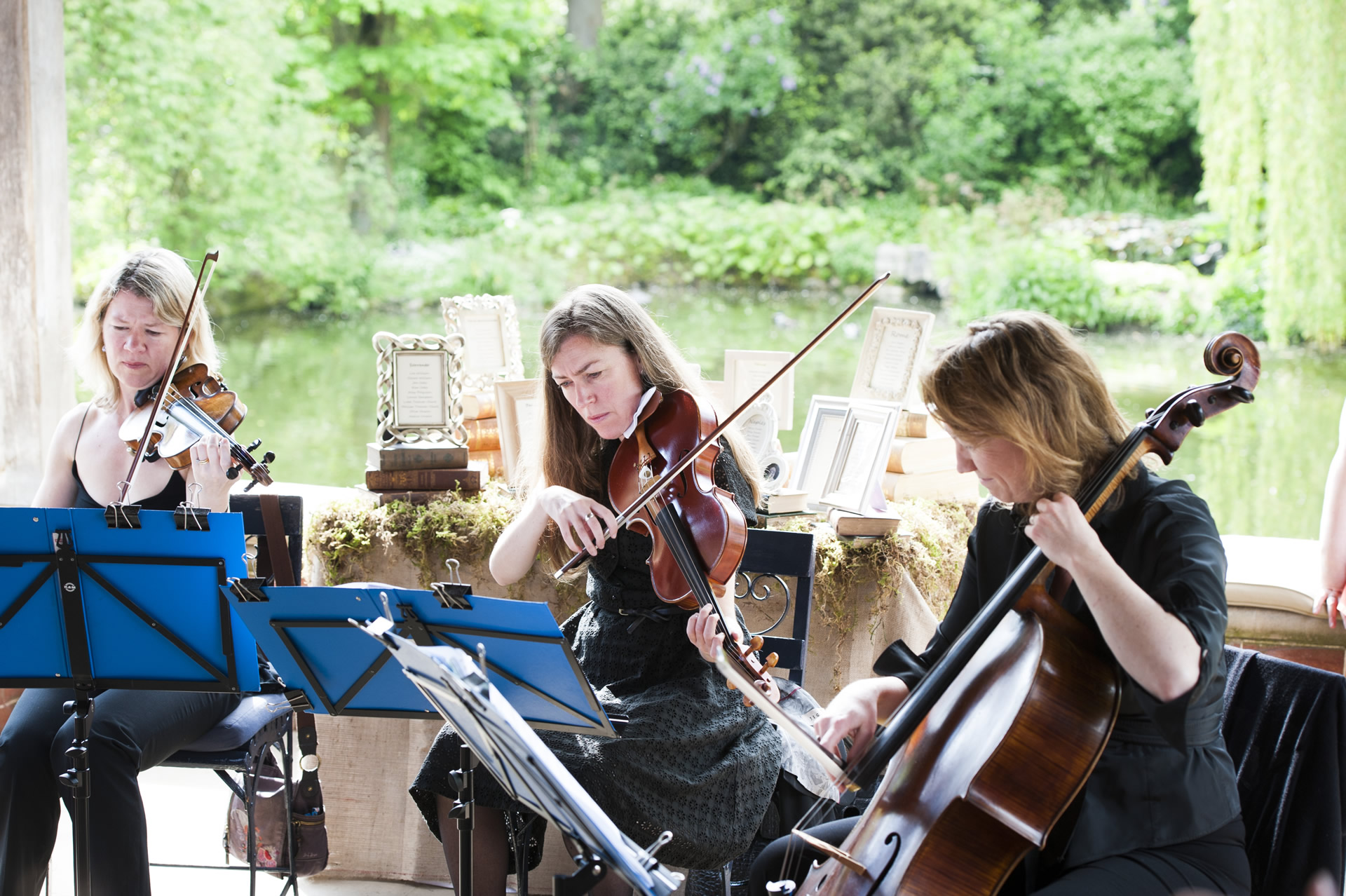 Manor House Music - Wedding string quartet for all types of occasions, including birthday parties, wedding anniversaries and garden parties