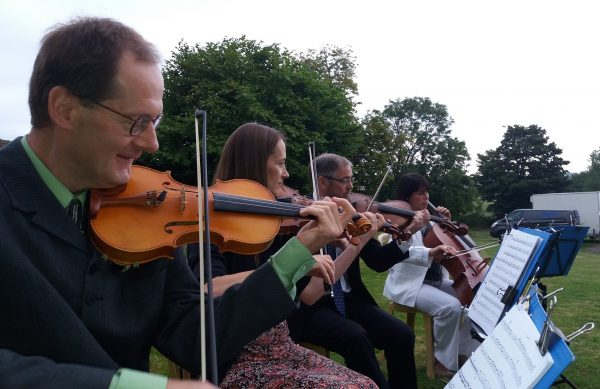 Wedding string quartet with extensive modern rock and pop selection