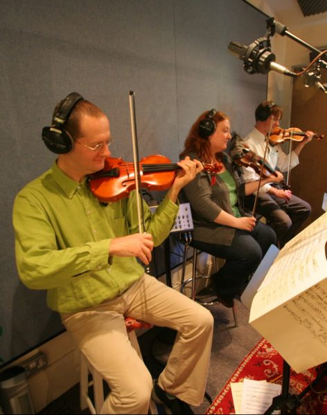 Professional recording session musicians