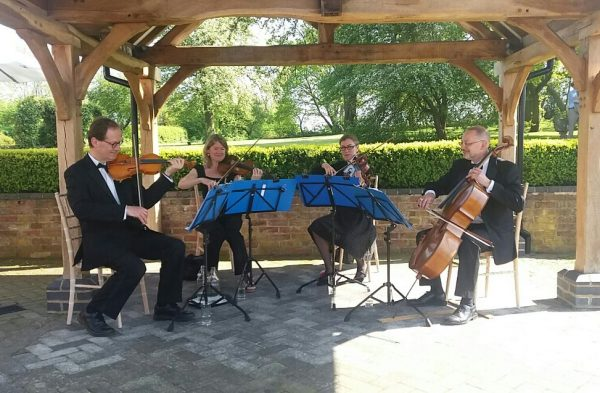 Manor House Music string quartet playing at Wethele Manor